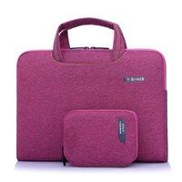 Wholesale Portable inch Laptop Bag Computer Notebook Handbag Tablet Bag Laptop Case Business Messenger Bag for Men and Women H012