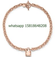 big gold charms - european cm alloy rose gold big chain necklace padlock fashion pendant choker necklace jewelry hot sale