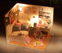 Wholesale Doll house furniture diy cabin model large villa send girls to send her boyfriend creative gift