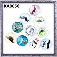 beard patterns - Mixed Fashion mm Snap Buttons DIY snap button noosa chunks leather bracelet Beard glasses tie pattern KA0056