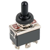 Wholesale Electronic Components pin Black DPDT DC Moto Reverse ON OFF ON Toggle Switch Switch Cap B00042