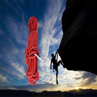 Wholesale New Arrival M Rock Climbing Rope Professional Red Blue High Strength Safety Rope With Two Hook Mountain Rock Climbing Tool