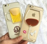 batteries wine bar - 3D phone fashion bar wine style case PC cover frame flowing water protector iphone s inch