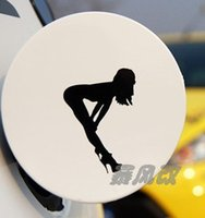 belle cars - Personalized car stickers garland reflective fuel tank cover belle car decoration stickers black