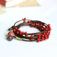 adorn weaves - Fashion Delicate Hand Woven Ceramic Beads Bracelet Originality Chinese Style Bracelet Adorn Article