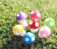 Wholesale 100Pcs Mini Mushroom Garden Ornament Miniature Plant Pots Fairy DIY Dollhouse