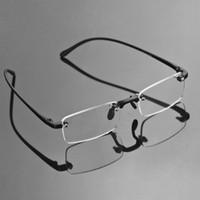 Wholesale TR90 Bendable Frameless Reading Glasses Flexible Reader Magnifying Eyeglasses Men Book Map Menu Read With Free Case