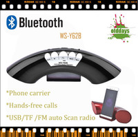 Wholesale Brand new color HIFI Olddays WS Y62B Phone carrier portable wireless bluetooth speaker with FM accept TF usb