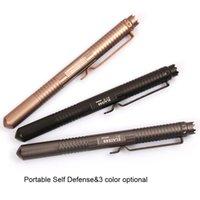 aluminum guard - EDC Gear Portable Tactical Pen Self Defense Tool Aviation Aluminum Anti skid Glass Broken Self Guard Pen P