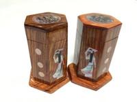 Wholesale Hot sale Creative and practical furniture supplies creative wooden toothpicksVietnamese woman toothpicks Holders
