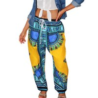 ankara clothing - 2016 Women African Pants Bohemia Print Loose Trousers Vintage Ankara Pants With Pocket China Clothing Summer Casual Harem Pants