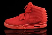 Wholesale With Box The latest version luminous Trainers Kanye West Signs Fans Air Y II quot Red October quot men s Basketball Shoes Size US