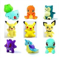 Wholesale Pikachu Gengar Squirtle Dragonite Plush dolls cm inch Poke plush toys Stuffed Dragonitanimals toys soft Christmas Gifts
