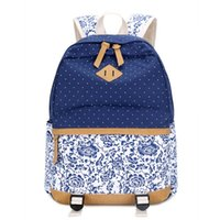 Wholesale 2016 HOT SELL Dot Patchwork Women School Backpack Fashion Female Shoulder bag High Quality Cheap china bags