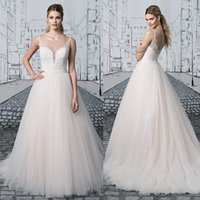 alexander pink - Justin alexander Pretty Lace Wedding Dresses Jewel Neckline Beaded Appliques Bridal Gown Sweep Length Tulle Wedding Gowns