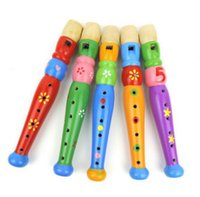 big baby rattle - Hot Colorful Wooden Clarinet Baby Child Musical Instrument Rattle Party Toy Random Delivery