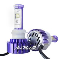 auto headlamps headlights - Addmotor x Plug Play W LM Purple LED Headlight CREE LED H7 K Cool White Bulbs w Clear Arc Beam Kit Auto LED Headlamp AP0H7
