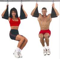 Wholesale pair Enhanced Model Fitness Waist Abdominal Belt Horizonal Bar AB Sling Hanging Belt Pull Up Muscle Training Support Belt