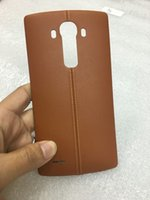 antenna covers - New Genuine Real Leather Rear Back Battery Cover Housing Door for LG G4 with NFC Wireless Charger Antenna Replacement
