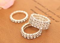 diamante de la manera coreana anillos de diamantes anillo de flash se extienden tendencia plata