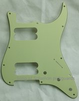 Wholesale For US Standard Screw HH Strat Guitar Pickguard replacement Ply Mint Green