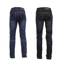 al por mayor pantalones vaqueros de los pantalones a prueba de agua-Impermeable impermeable Motocycle Jeans para hombres Rip Stop ajustable cremallera Fly Nylon Male Riding Pants de alta calidad