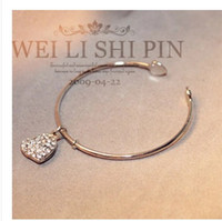 beautiful indian jewellery - TOP Design Bright lovely Christmas gift noble jewellery Silver gold plated bracelet fashion Beautiful jewelry Pretty round bangle Bracelet