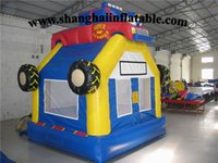 Wholesale 2016 high quality PVC inflatable car bounce house for sale