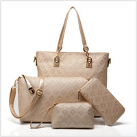 big black purses - High Quality New PU Leather Women Handbag Messenger Bags Purse Sets Big Capacity Printing Luxury Designer Sac A Main TRD