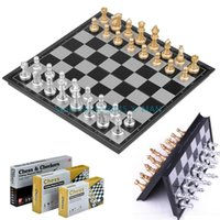 Wholesale NEW Chess Educational International With Folding Chessboard Plastic Game Adults Children Toy Chess L314