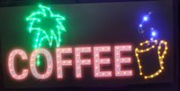 Wholesale 5pcs led coffee shop open sign hot sale customed x19 inch indoor Cafe shop Ultra Bright flashing led display sign