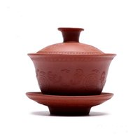 Wholesale Teapot Style Of Cup Shape YiXing Purple Sand Cup With Total Handmade Caving With Chinese Old Tradition Culture Drawing