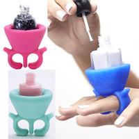 Wholesale Gel Polish Nail Art Bottle Display Stand Holder Women maquiagem Wearable Nail Art Tips Nail Polish Tools