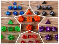 Wholesale 7pcs Set Acrylic Polyhedral TRPG Games For Dungeons Dragons D4 D20 Multi Sides Dice Pop for Game Gaming