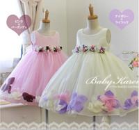 Wholesale PrettyBaby children D rose flower dress girls sleeveless sequin dress summer princess dress bow floral chiffon dress with belt
