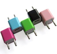Wholesale Mini USB Power Adapter little green point original A US EU Plug USB Wall charger Adapter for iPod iphone5 S copy