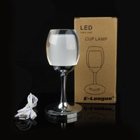 acrylic table lamps - LED Desk Lamp Universal BuyingTM Adjustable Indoor Acrylic RGB Red Wine Cup Table Lamp With Touch Sensor Control for Dinner Decoration