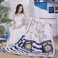 Wholesale The New Bedding Summer Quilt Cotton Cool And Comfortable Blue Shell Figure There Are Three Dimensions Suitable For Family