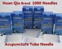 Wholesale 1000 Needles HUANQIU Sterile Acupuncture Needle Huan Qiu Copper Handle Acupuncture Tube Needles CE FDA X13MM