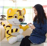 baby tiger stuffed animal - Dorimytrader cm Large Cartoon Tiger Toy Plush Soft Stuffed Animal Tigers Doll Nice Baby Gift DY61045