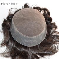 Wholesale Indian virgin hair b ASH ASH color men s toupee density quot hair pieces x8 size swiss lace with PU at perimeter