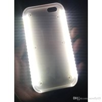 Wholesale LED light Up Selfie Phone Case Luminous Back Cover Shell Cases Illuminated For iphone S plus SE Samsung Galaxy S6 S7