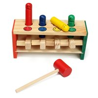 Wholesale Hot Sale Colorful Funny Children s Educational Early Childhood Wooden Toys Beat Hit Stakes Popular Toys Early childhood toys