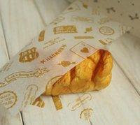 achat en gros de jaune bonbons enveloppés-300 pièces / papier jaune de logo de logo de lot, revêtement Greaseproof, pour le sandwich Emballage de gâteau de savon de cadeau de sucrerie de nourriture de hamburger, 22x25cm