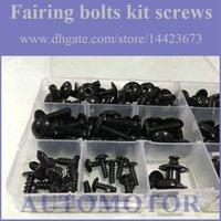 Wholesale Fairing Screw Bolts Kit black For YAMAHA YZF1000R YZF R YZF R Fairings Bolts Screws