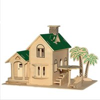best wooden puzzles - 3D Wood Sea View Villa Puzzle Models for Boys and Girls Best Quality Wooden Housing Buildings Models for Adults A048