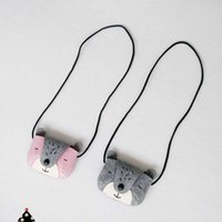 Wholesale New Baby Girls Boys Bear Coin Bags Kids Lovely Grey Pink Cute Bear Style Messenger Bags Shoulder bags