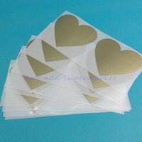 Wholesale 50Pcs Scratch Off Stickers x80mm Love Heart Shape Golden Color Games Wedding