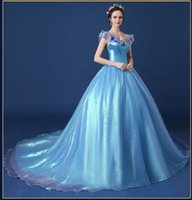 adult prom dress - New High quality Hot Sale cinderella dress Movie Princess dress Prom Gown Cosplay sexy Costumes Adult Girl