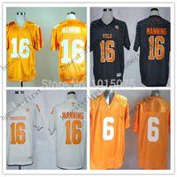 baseballs football uniform - NCAA Peyton Manning College Jersey Tennessee Volunteers Football Uniforms White Orange Black